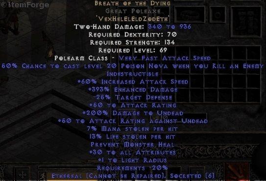 Diablo 2 BOTD Great Poleaxe Screenshot