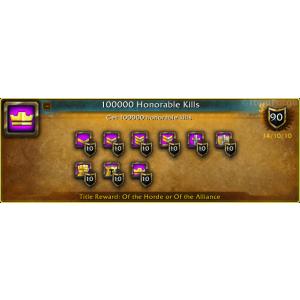 WoW 100000 Honorable Kills (screenshot)
