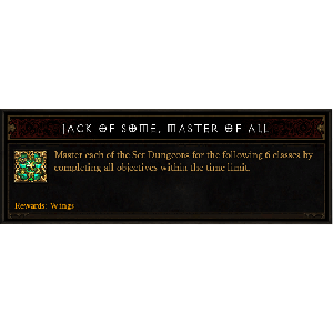Diablo 3 Set Dungeon Mastery look (icon)