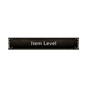 WoW Item Level (Screenshot)