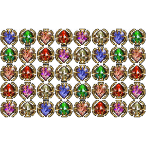 Diablo 2 40 Jewels look (icon)