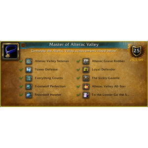 WoW Master of Alterac Valley (Screenshot)