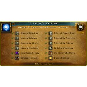 WoW To Honor One's Elders (Screenshot)
